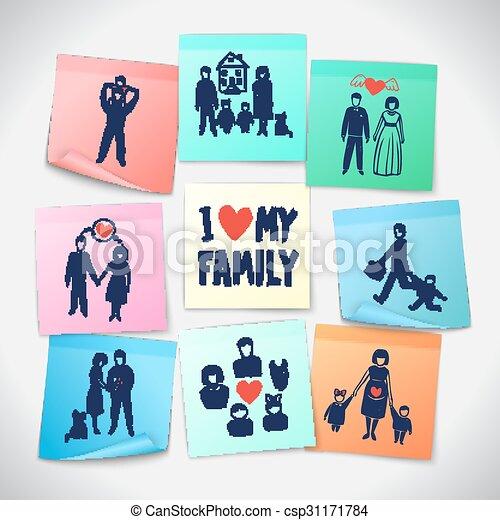 Family Stickers Set - csp31171784