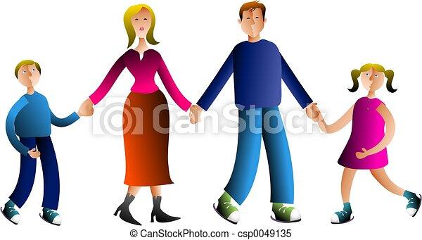 family family holding hands
