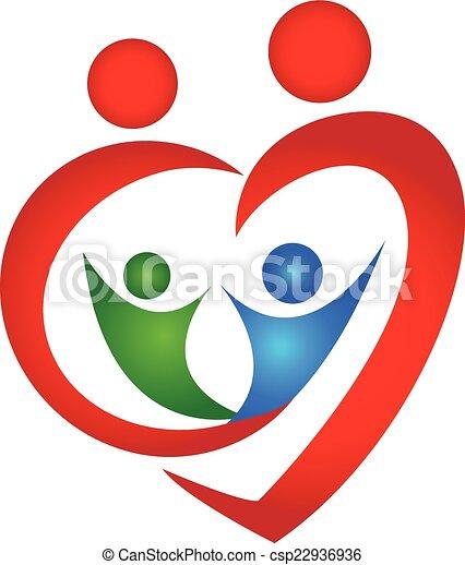 Family Symbol Heart Shape Logo Design Template Vectors Search Clip