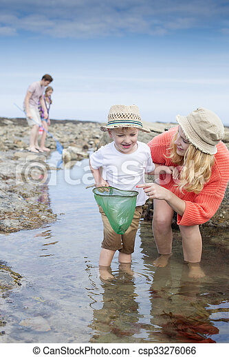 Family time at the beach - csp33276066