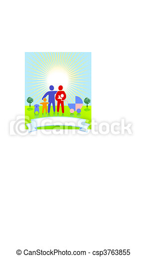 Family to summer - csp3763855