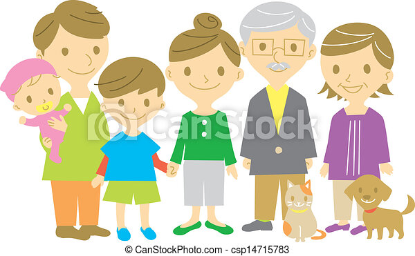Family, together, full length - csp14715783