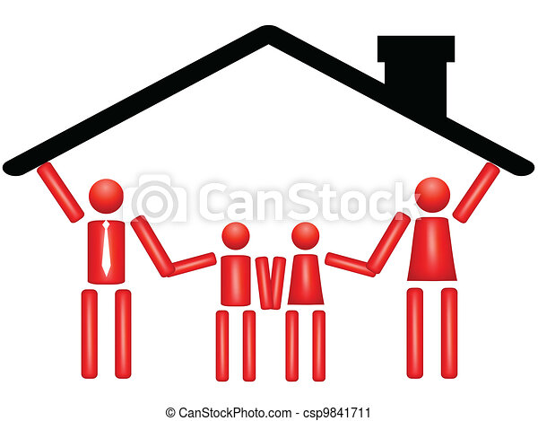 Family Togetherness In House Fector Illustration Of Family
