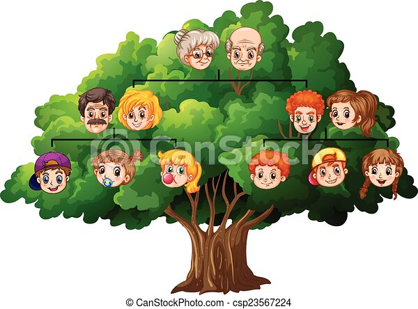 illustration of a completed family tree vector illustration search rh canstockphoto com clip art family tree diagrams clipart family tree maker
