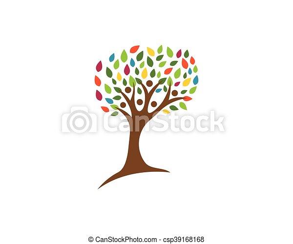 Family Tree Logo Template Vector Icon Design Clip Art Vector