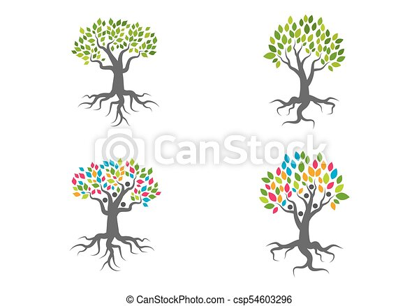 Family Tree Logo Vector Template Eps Vectors Search Clip Art