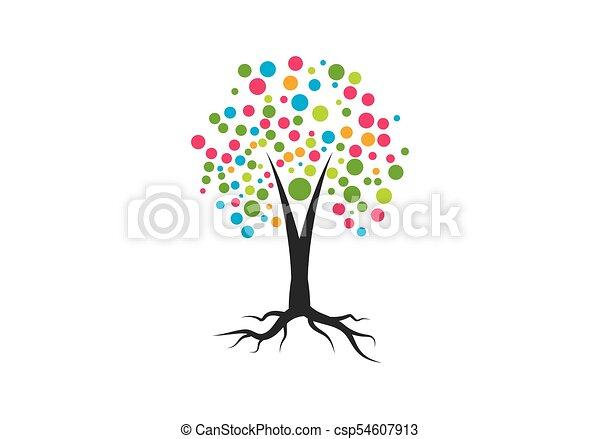 Family Tree Symbol Icon Logo Design Template Vector Clip Art