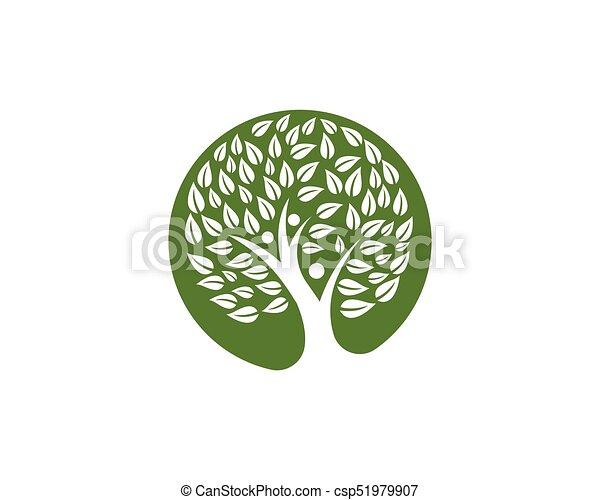 Family Tree Symbol Icon Logo Design Template Illustration