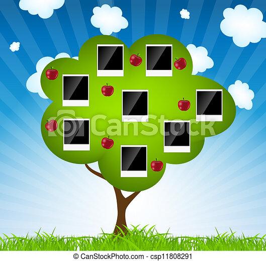 Family tree vector illustration - csp11808291