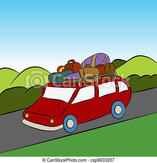 Family Vacation Car Trip - csp6633207