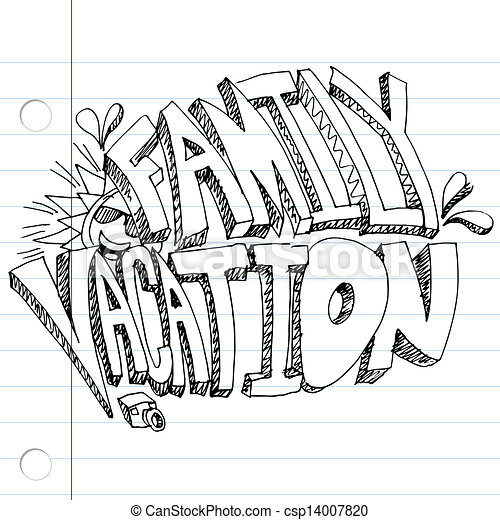 Family Vacation Drawing An Image Of A Message