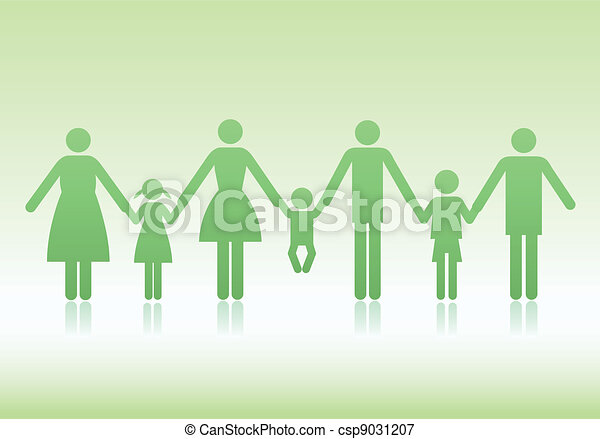 family vector icons - csp9031207