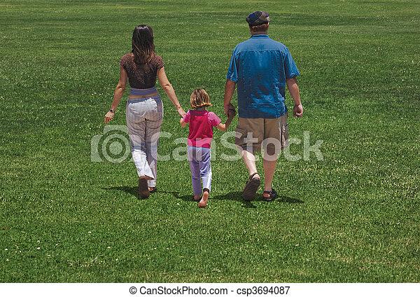 family walk - csp3694087