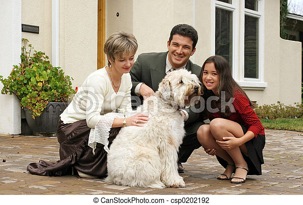Family with a dog - csp0202192
