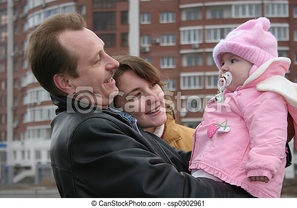 family with baby - csp0902961