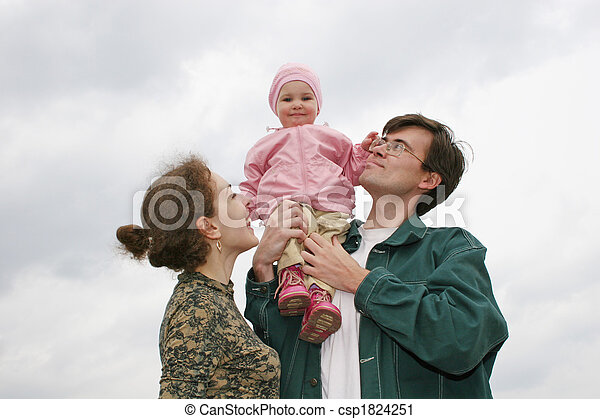 family with baby - csp1824251