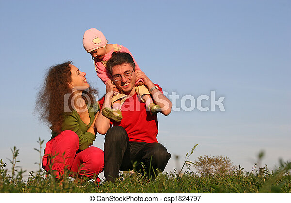 family with baby - csp1824797