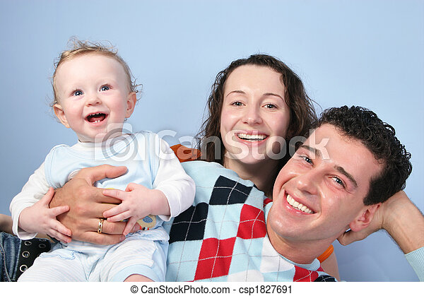 family with baby - csp1827691