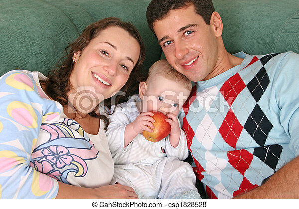 family with baby - csp1828528
