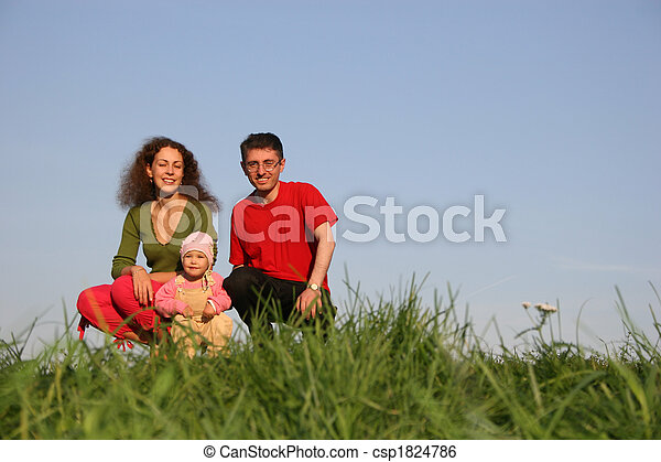 family with baby - csp1824786