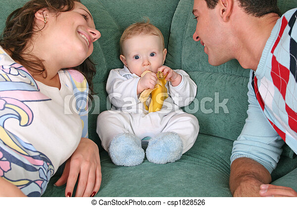 family with baby - csp1828526