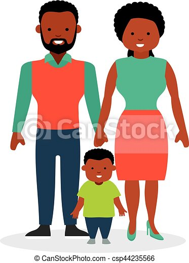 family with one child a son african american family african rh canstockphoto com african american family feet clipart african american family caregivers clipart