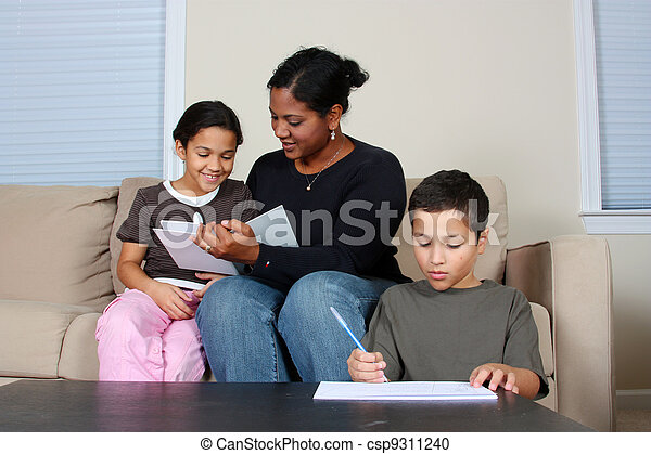 Family Working - csp9311240