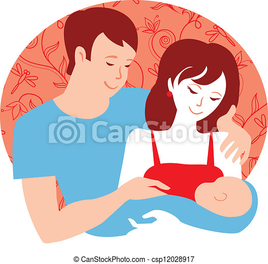 family yung parents with newborn baby boy vector clip art search rh canstockphoto com newborn baby clipart borders newborn baby clipart borders