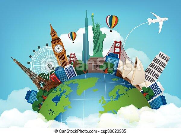 El concepto de viaje. Famoso monum - csp30620385