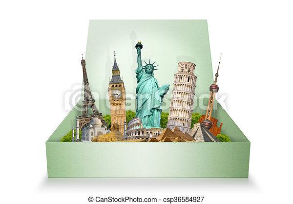 monumentos famosos del mundo - csp36584927