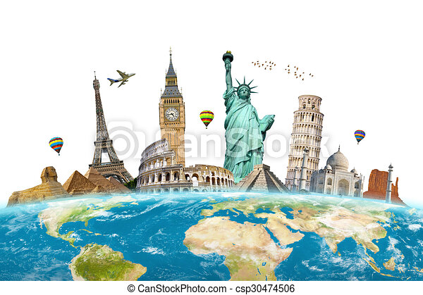 monumentos famosos del mundo - csp30474506