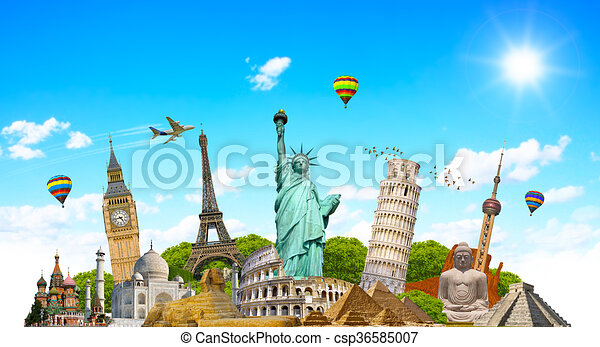 monumentos famosos del mundo - csp36585007