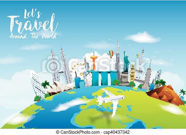 monumentos famosos del mundo - csp40437342