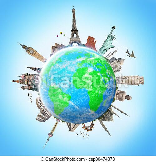 La ilustración del famoso monumento del mundo - csp30474373