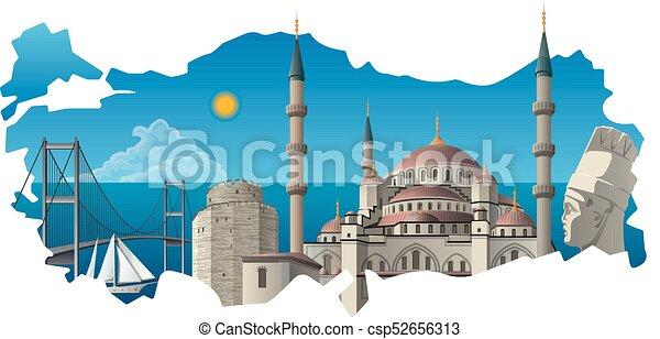 Famosos monumentos turcos - csp52656313