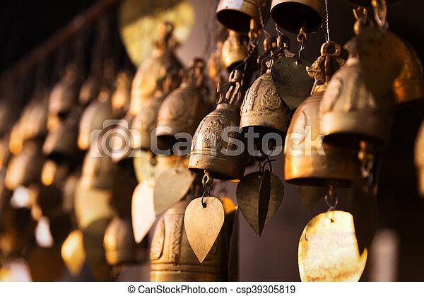 Famous Big Buddha wish bells, Phuket, Thailand - csp39305819