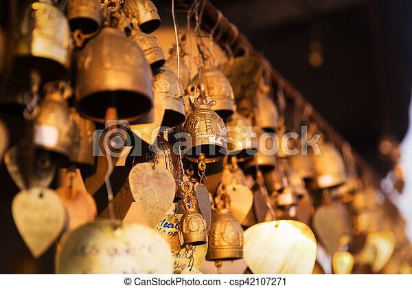 Famous Big Buddha wish bells, Phuket, Thailand - csp42107271