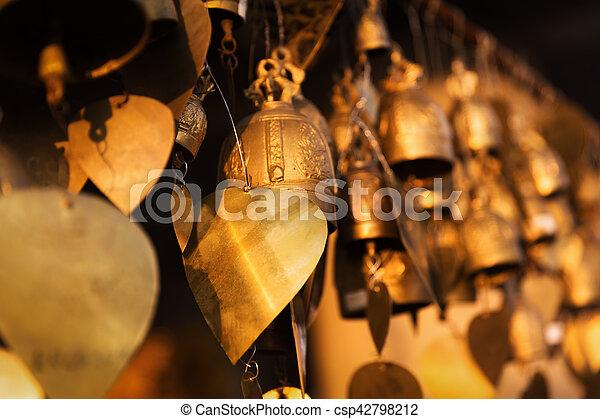 Famous Big Buddha wish bells, Phuket, Thailand - csp42798212