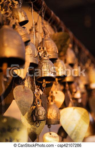 Famous Big Buddha wish bells, Phuket, Thailand - csp42107286