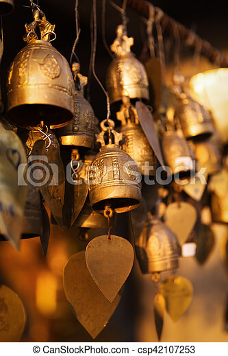 Famous Big Buddha wish bells, Phuket, Thailand - csp42107253