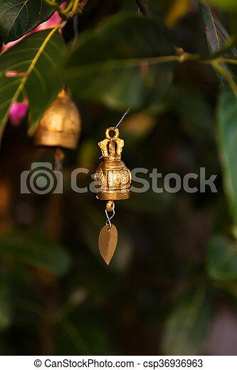 Famous Big Buddha wish bells, Thailand - csp36936963