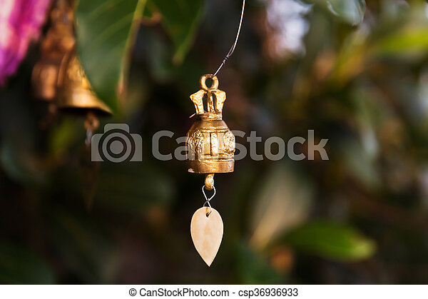 Famous Big Buddha wish bells, Thailand - csp36936933