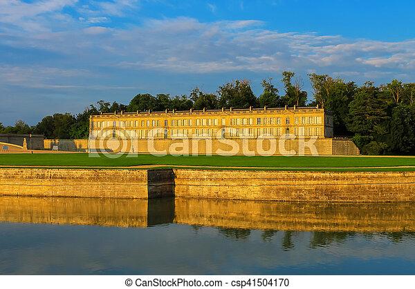 Famous Chateau de Chantilly. France - csp41504170