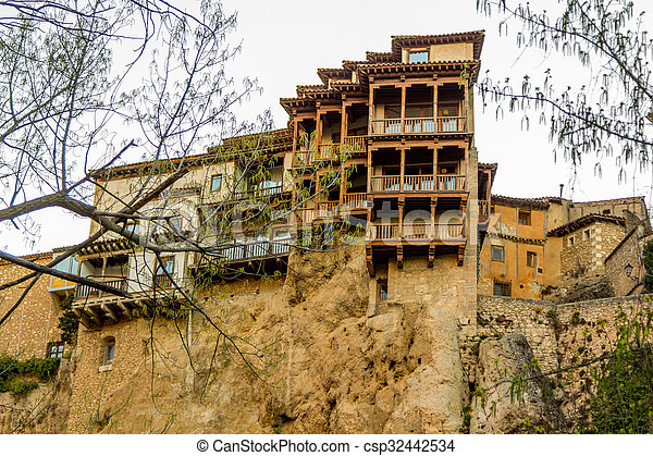 Famous Hanging Houses Of Cuenca In Spain   Csp32442534