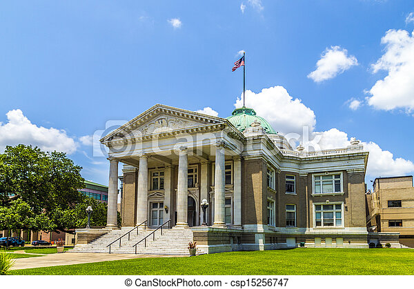 famous historic city hall in Lake Charles  - csp15256747