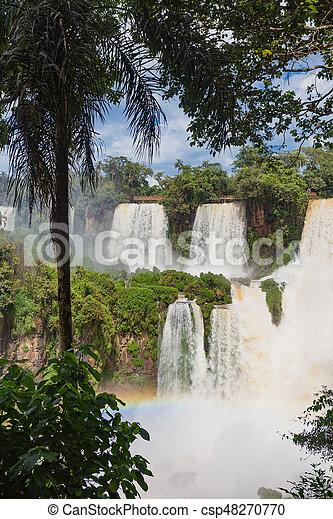 famous Iguacu falls - csp48270770