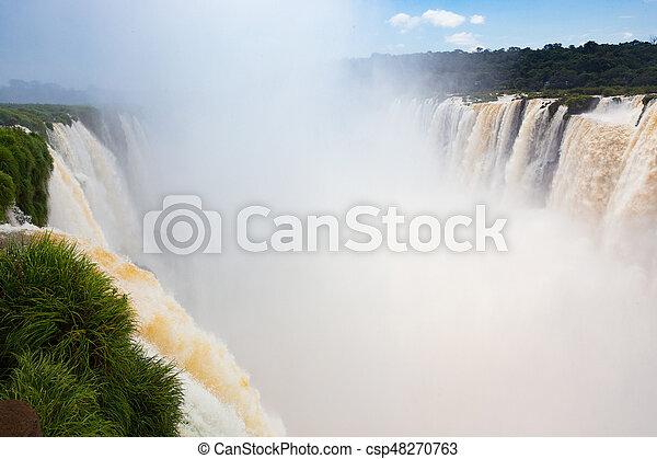 famous Iguacu falls - csp48270763