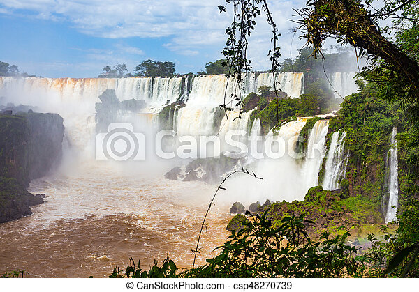famous Iguacu falls - csp48270739