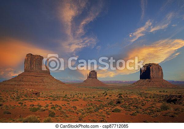 famous landscape of Monument Valley - csp87712085