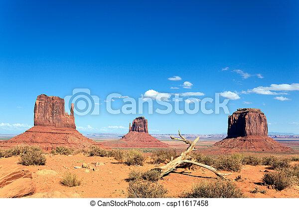 famous landscape of Monument Valley - csp11617458